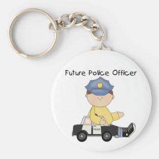 Zukünftige Polizeibeamte-T-Shirts und Geschenke Schlüsselanhänger