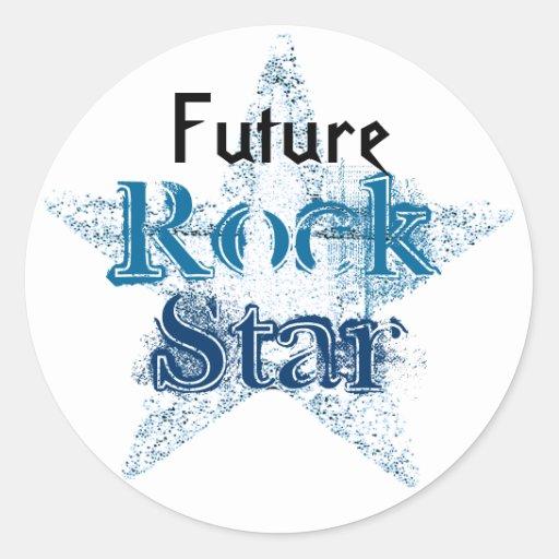 Zukünftige Rockstaraufkleber Runder Sticker