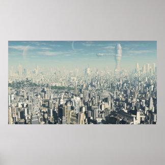Zukünftige Stadt - Plakat