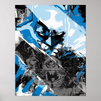 Zukünftige Stadtbild-Montage Batmans Poster