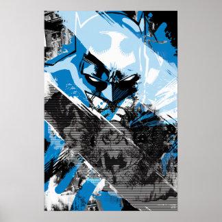 Zukünftige Stadtbild-Montage Batmans Plakatdrucke