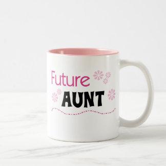Zukünftige Tante Tshirts und Geschenke Zweifarbige Tasse