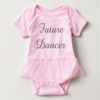 Zukünftige Tänzer-Baby-Ausstattung w/tutu Baby Strampler