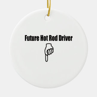 Zukünftiger Auto-Fahrer Keramik Ornament