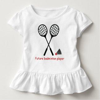 Zukünftiger Badminton Spieler, Schläger u. Kleinkind T-shirt