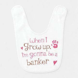 Zukünftiger Banker-Baby-Schellfisch Lätzchen