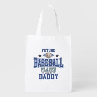 Zukünftiger Baseball-Spieler mögen meinen Vati Wiederverwendbare Einkaufstasche