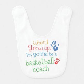 Zukünftiger Basketball-Trainers-Baby-Schellfisch Lätzchen