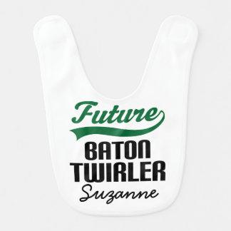 Zukünftiger Batontwirler-personalisierter Babylätzchen