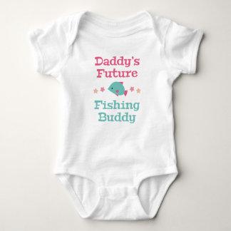 Zukünftiger das Fischen-Freund des Vatis Baby Strampler