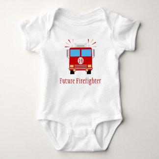 Zukünftiger Feuer-Motor des Feuerwehrmann-| Baby Strampler