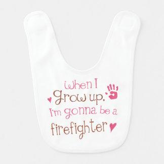 Zukünftiger Feuerwehrmann-Baby-Schellfisch Lätzchen