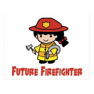 Zukünftiger Feuerwehrmann Postkarte