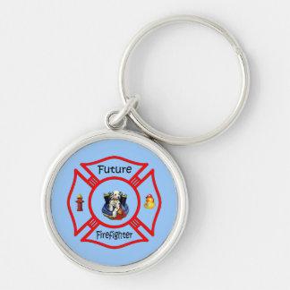 Zukünftiger Feuerwehrmann-rotes maltesisches Schlüsselanhänger