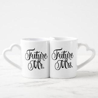 Zukünftiger Herr und Frau Fancy Script Coffee Mugs Liebestassen