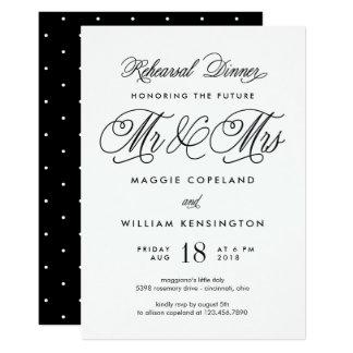 Zukünftiger Herr und Frau Rehearsal Dinner 12,7 X 17,8 Cm Einladungskarte