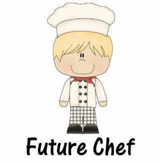 zukünftiger Koch (Junge) Freistehende Fotoskulptur