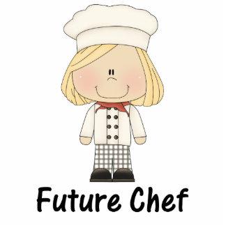 zukünftiger Koch (Mädchen) Freistehende Fotoskulptur