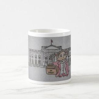Zukünftiger Kommandant - herein - Leiter Kaffeetassen