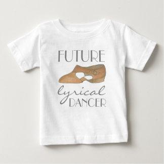 ZUKÜNFTIGER LYRISCHER TÄNZER TAN-Tanz-Schuh Baby T-shirt