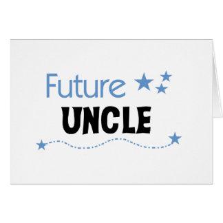 Zukünftiger Onkel T-shirts und Geschenke Karte