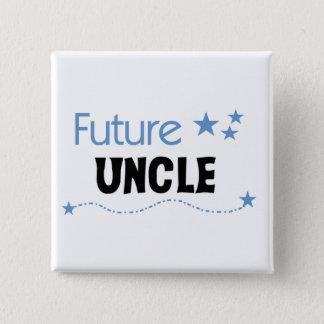 Zukünftiger Onkel T-shirts und Geschenke Quadratischer Button 5,1 Cm