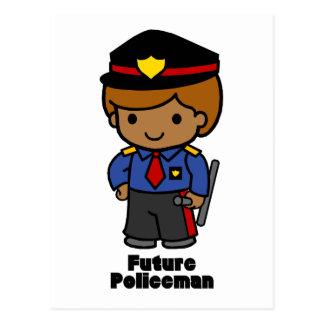 Zukünftiger Polizist - Junge Postkarte