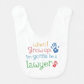 Zukünftiger Rechtsanwalt-Baby-Schellfisch Lätzchen