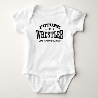Zukünftiger Ringkämpfer mögen meinen großen Bruder Baby Strampler