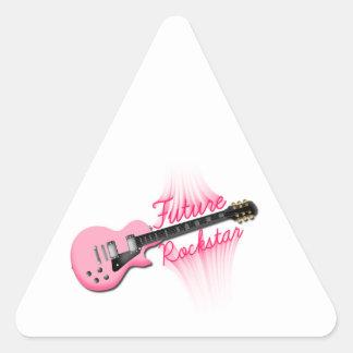 Zukünftiger Rockstar rosa Dreieckaufkleber