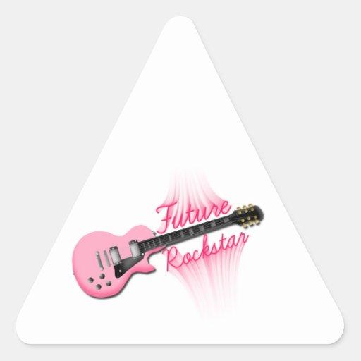 Zukünftiger Rockstar rosa Gitarren-Dreieckaufklebe Dreieckaufkleber