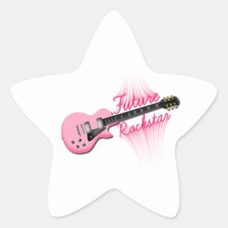 Zukünftiger Rockstar rosa Gitarren-Sternaufkleber Stern Aufkleber