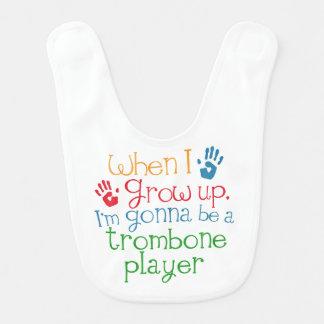 Zukünftiger Trombone Spieler-Baby-Schellfisch Babylätzchen