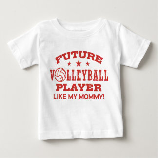 Zukünftiger Volleyball-Spieler mögen meine Mama Baby T-shirt