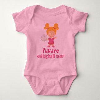 Zukünftiger Volleyball-Stern (Mädchen) Baby Strampler