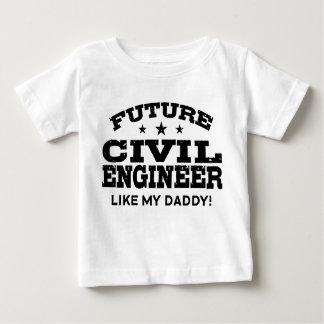 Zukünftiger ziviler Ingenieur Baby T-shirt