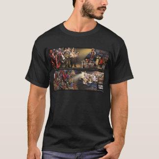 Zukünftiges Beben-Wandgemälde/klassisches Logo T-Shirt