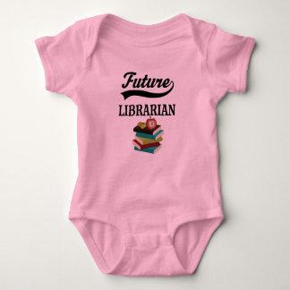 Zukünftiges Bibliothekar-Kinders-Shirt Baby Strampler