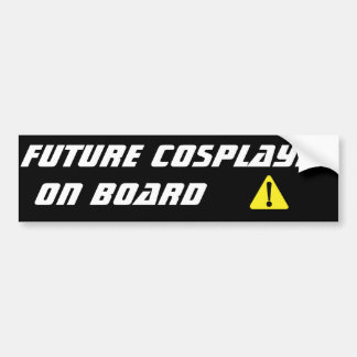 Zukünftiges Cosplayer an Bord des Autoaufklebers Autoaufkleber