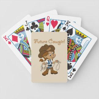 Zukünftiges Cowgirl-dunkle Haut, wenn ich Bicycle Spielkarten
