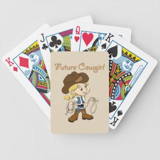 Zukünftiges Cowgirl, wenn ich aufwachse Bicycle Spielkarten