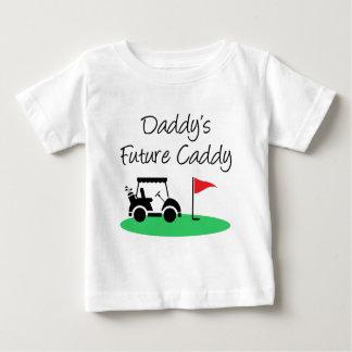 Zukünftiges das Transportgestell-Golf des Vatis Baby T-shirt
