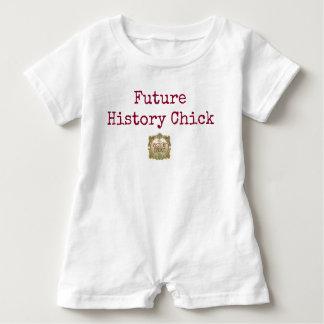 Zukünftiges Geschichtsküken-Baby Baby Strampler
