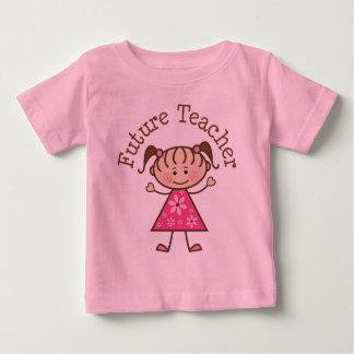 Zukünftiges Lehrer-Strichmännchen Baby T-shirt