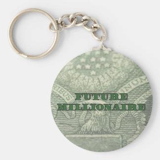Zukünftiges Millionärs-Geld Keychain Schlüsselanhänger