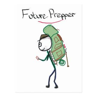 Zukünftiges Prepper Postkarte