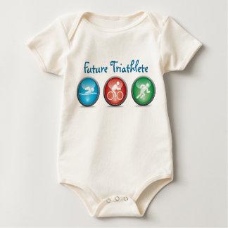 Zukünftiges Triathlete Baby-Jungen-Shirt:: 01 Baby Strampler