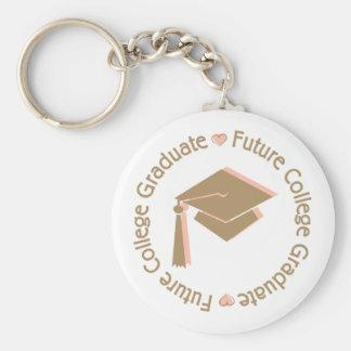 Zukünftiges Uni-Absolvent-Mädchen Schlüsselanhänger