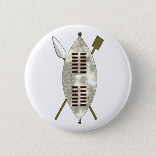 Zulu Schild buckler Runder Button 5,7 Cm