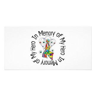 Zum Gedenken an meine Held-Autismus-Engels-Flügel Bild Karte